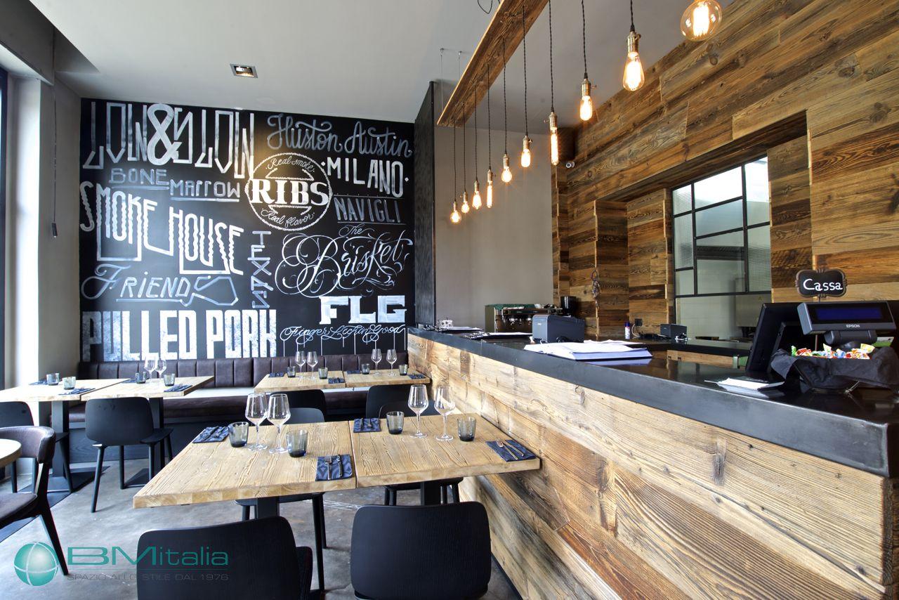 Progettazione arredamenti per ristorante smokehouse for Mullano arredamenti