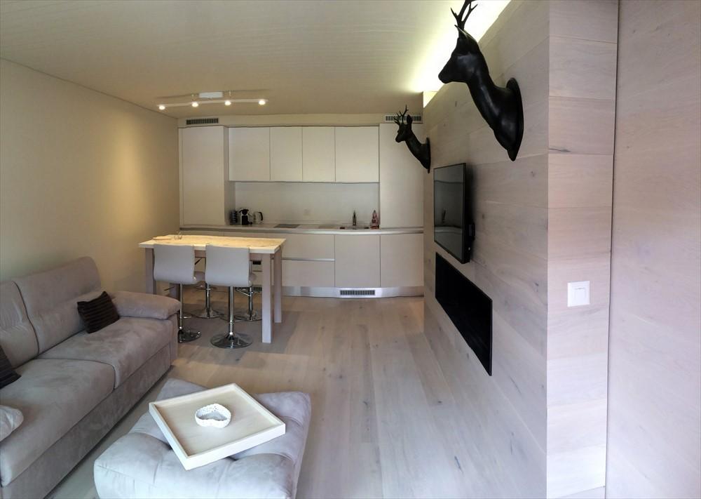Custom-made furnishings for apartment in Switzerland - bmitalia